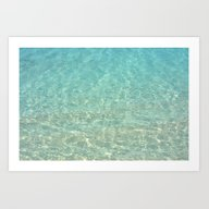 Colors Of The Sea Water … Art Print