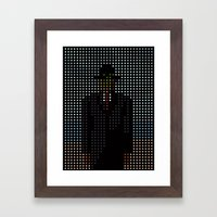 Dot of Man Framed Art Print