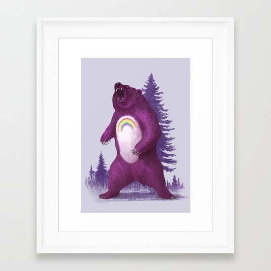 Scare Bear Framed Art Print