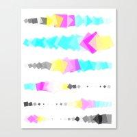 Printer Squares Canvas Print