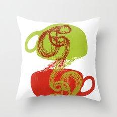 Coffee and tea time Throw Pillow