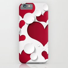 3D Hearts iPhone 6 Slim Case