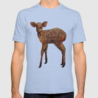 Nyala Mens Fitted Tee Tri-Blue SMALL