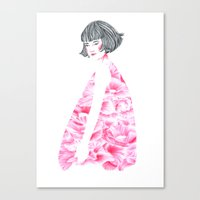 Poppy Girl Canvas Print