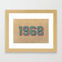Vintage 1968 Framed Art Print