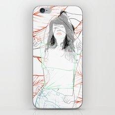RED STRIP (combine series) iPhone & iPod Skin
