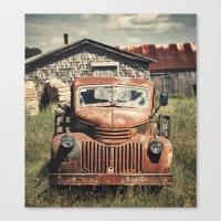 Forties Farm Truck Canvas Print