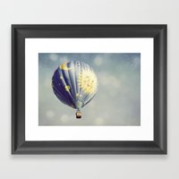 Moon And Stars Hot Air B… Framed Art Print