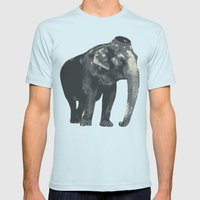 Elijah the Elephant Mens Fitted Tee Light Blue SMALL