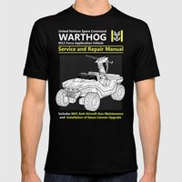 Warthog Service and Repair Manual Mens Fitted Tee Black SMALL