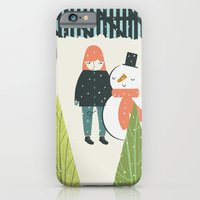 iPhone & iPod Case featuring Girl and Snowman by Alice Rebecca Potter
