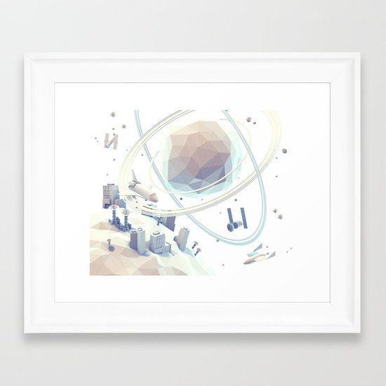 Space v.3 Framed Art Print