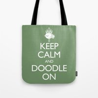 Keep Calm & Doodle On (G… Tote Bag