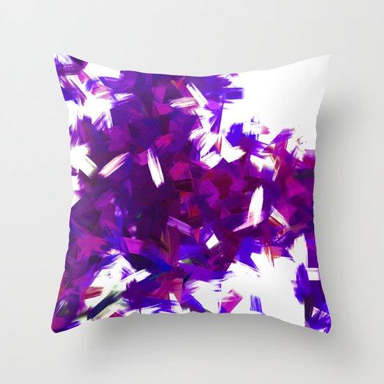 BLOSSOMS - PURPLE BLUE Throw Pillow