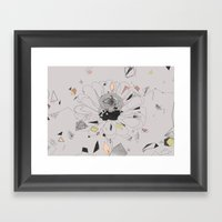 Party Flower Framed Art Print