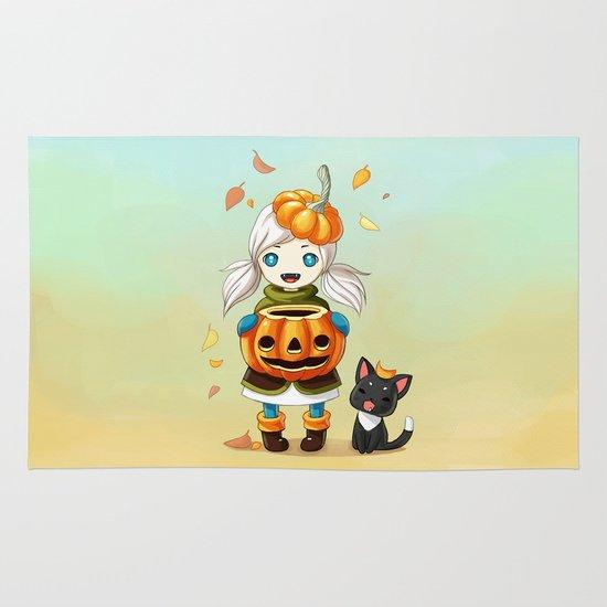 Pumpkin 2 Area & Throw Rug