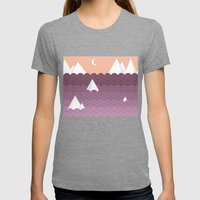 Sea of Clouds Womens Fitted Tee Tri-Grey SMALL