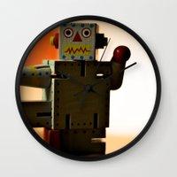 Kung Fu Robot Wall Clock