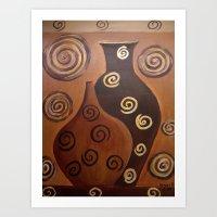 Vases/abstract Art Print