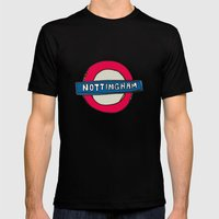 tube sign Mens Fitted Tee Black SMALL