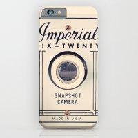 Retro Beige Camera on a Violet Paisley Background  iPhone 6 Slim Case