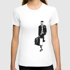 trainsandwhiskey Womens Fitted Tee White SMALL