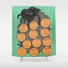 Sheep Calendar 2015 Shower Curtain