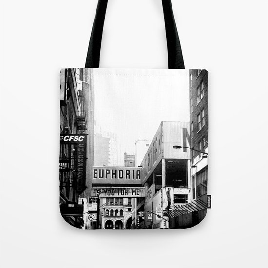 Euphoria Black & White Tote Bag