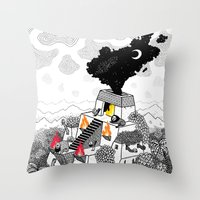 Unheimlich Throw Pillow