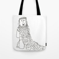 Bearded Man Tote Bag
