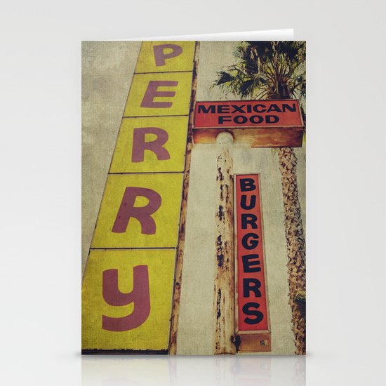 Perry's Vintage Sign Stationery Card