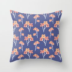 anemone flowers :: lavender Throw Pillow
