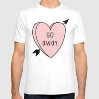 Go Away Mens Fitted Tee White SMALL