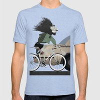 Alleycat Races Mens Fitted Tee Tri-Blue SMALL