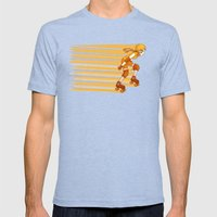 Roller Derby Skater by RonkyTonk Mens Fitted Tee Tri-Blue SMALL