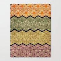 Pattern, Zig, Pattern, Z… Canvas Print