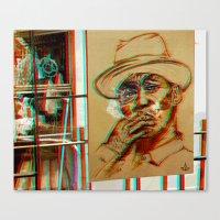 Bkk^Balkony°3dBluez Canvas Print