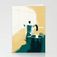 morning coffee Stationery Cards