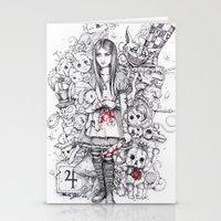 Wonderland Shattered Stationery Cards