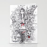 wonderland shattered Stationery Cards