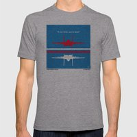 No128 My TOP GUN Minimal… Mens Fitted Tee Athletic Grey SMALL