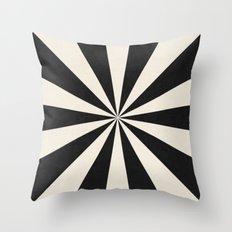 black starburst Throw Pillow