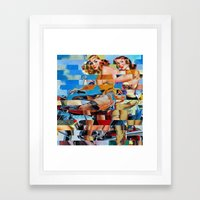 Glitch Pin-Up: Zelda & Z… Framed Art Print