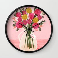 Valentines Day Bouquet F… Wall Clock