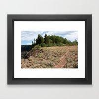 Flowing Park Trail Framed Art Print