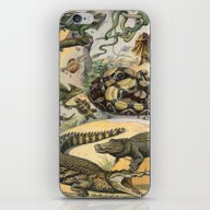 iPhone & iPod Skin featuring Reptiles, Nouveau Larous… by Chateau Partay