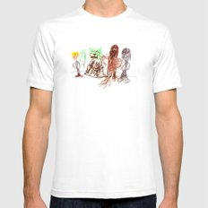 Space Opera in Crayon Mens Fitted Tee White SMALL