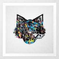 The Creative Cat (Alt. C… Art Print