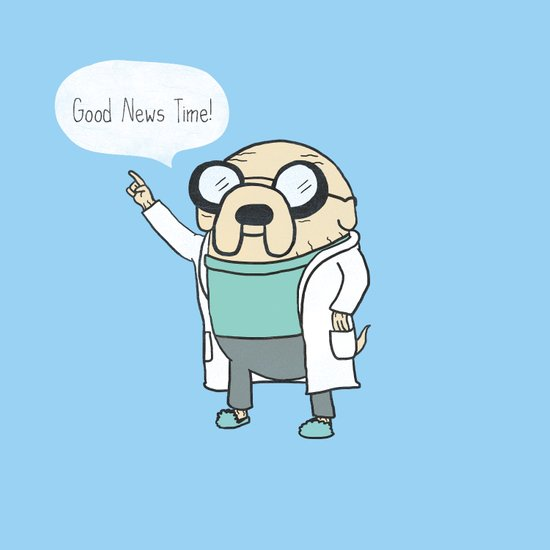 Good News Time! Art Print