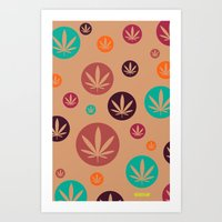 GGDUB - Burnt Orange Wee… Art Print